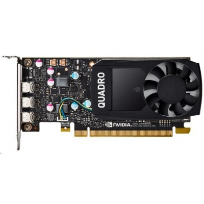 NVIDIA Quadro P400 2GB GDDR5 2000Mhz, 3x mini DisplayPort 1.4, 2x adapter mDP->DP , Low Profile, PCIe 16x