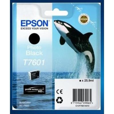 EPSON ink čer ULTRACHROME HD - Photo Black - T7601 (25,9 ml)