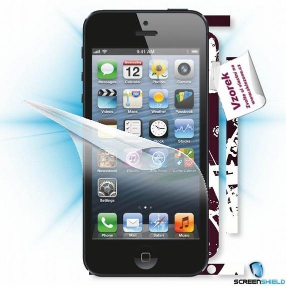 ScreenShield fólie na displej + skin voucher (včetně poplatku za dopravu k zákazníkovi) pro Apple iPhone 5