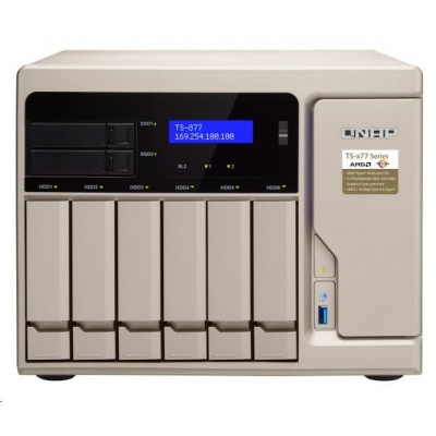 QNAP TS-877-1600-8G (3,2GHz/8GBRAM/8xSATA/2xM.2/4xGbE/3xPCIe)