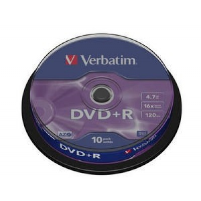 VERBATIM DVD+R(10-Pack)Spindle/General Retail/16x/4.7GB
