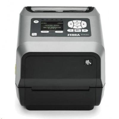"""Zebra TT tiskárna etiket ZD620 4"""" LCD 203 dpi, USB, USB Host, BTLE, RS232, LAN, řezačka"""