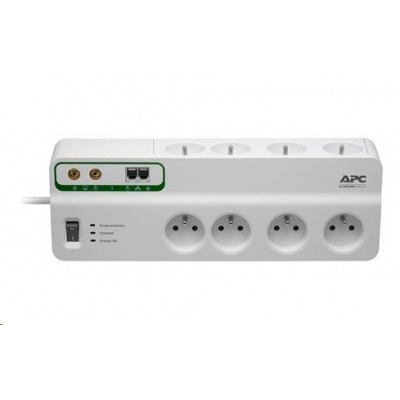 APC Performance SurgeArrest 8 outlets with Phone & Coax Protection 230V France, 3m
