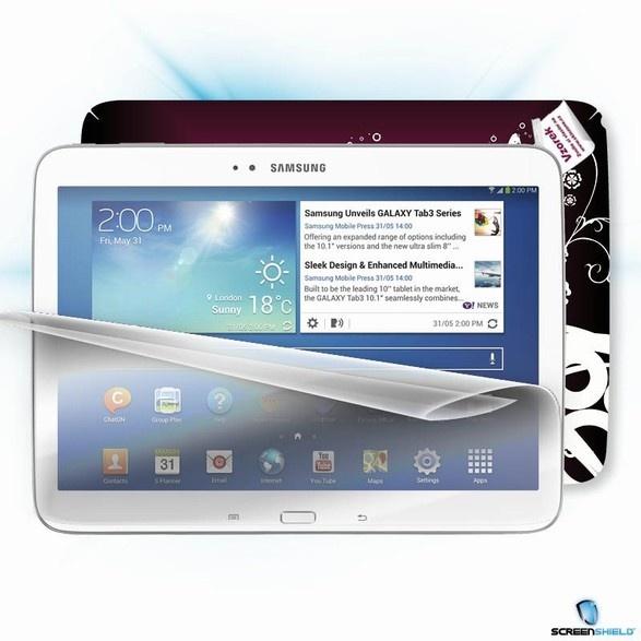 ScreenShield fólie na displej + skin voucher (vč. dopr. k zákazníkovi) pro Samsung Galaxy Tab 3, 10.1 Wi-Fi + 4G (P5220)