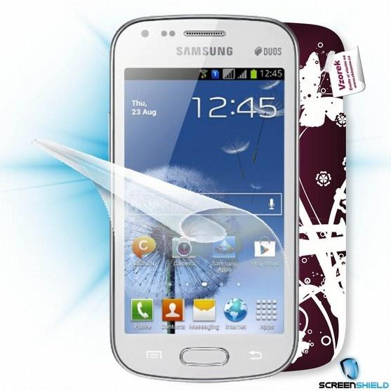 ScreenShield fólie na displej + skin voucher (vč. popl. za dopr. k zákazníkovi) pro Samsung Galaxy S Duos (S7562)