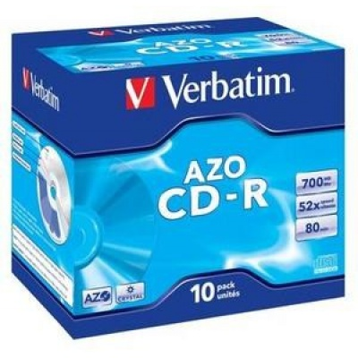 VERBATIM CD-R(10-Pack)Jewel/Crystal/DLP/52x/700MB