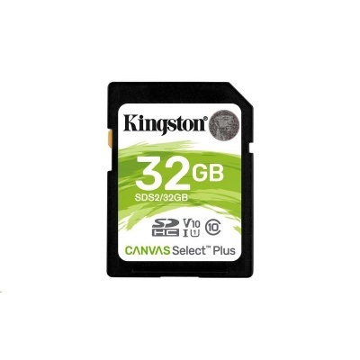Kingston 32GB SecureDigital Canvas Select Plus (SDHC) 100R Class 10 UHS-I