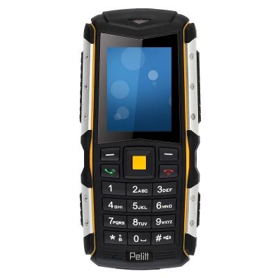 Pelitt Stone, odolný IP67, DUAL SIM, černá-žlutá