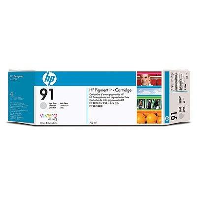 HP 91 Light Grey DJ Ink Cart, 775 ml, C9466A