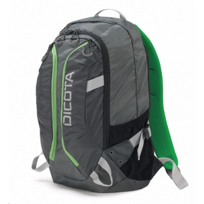 DICOTA Backpack Active 14-15.6, grey/lime
