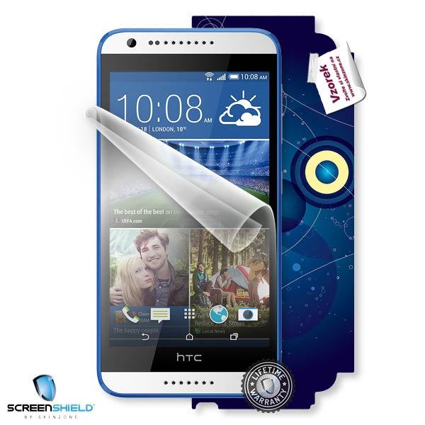 ScreenShield fólie na displej + skin voucher (včetně poplatku za dopravu k zákazníkovi) pro HTC Desire 620