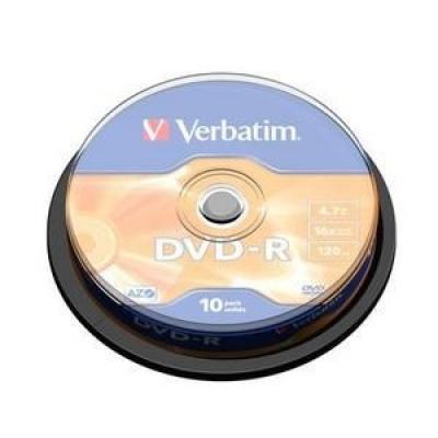 VERBATIM DVD-R(10-Pack)Spindle/General Retail/16x/4.7GB