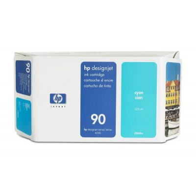 HP 90 Cyan DJ Ink Cart, 225 ml, C5060A