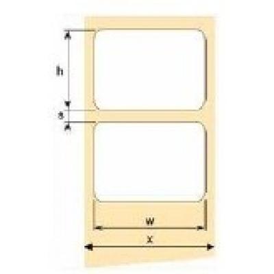 OEM samolepící etikety 50mm x 25mm, bílý PE, cena za 2000 ks