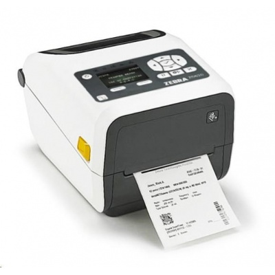 "Zebra TT tiskárna etiketZD620 4"" LCD, 4"" Healthcare, 300 dpi, BTLE, USB, USB Host, RS232,LAN, WLAN & BT"