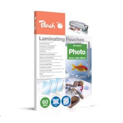 Peach Laminating Pouch Photosize 10x15 cm (106x156 mm), 60mic, S-PP060-20