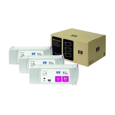 HP 81 Magenta DJ Ink Cart, 680 ml, 3-pack, C5068A