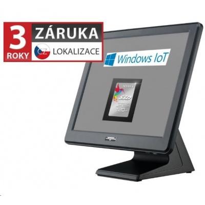 """Virtuos AerPOS PP-9635AV, 15"""" LCD LED350, 4GB/120GB SSD, Win 10 IoT - rámeček"""